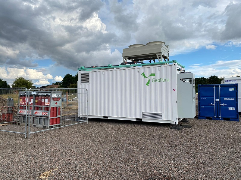 Construction world first: GeoPura hydrogen fuel cell system to provide combined heat and power to National Grid's Viking Link construction site